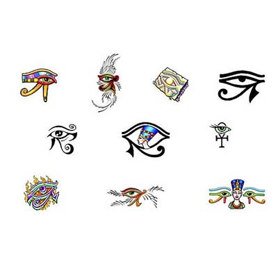 Horus Egyptian designs Fake Temporary Water Transfer Tattoo Stickers NO.10323