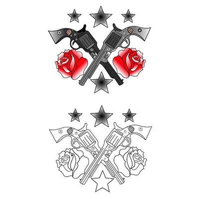 Guns n Roses designs Fake Temporary Water Transfer Tattoo Stickers NO.10337