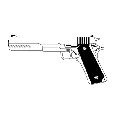 Long Barrel Of Modern Gun Design Fake Temporary Water Transfer Tattoo Stickers NO.10339