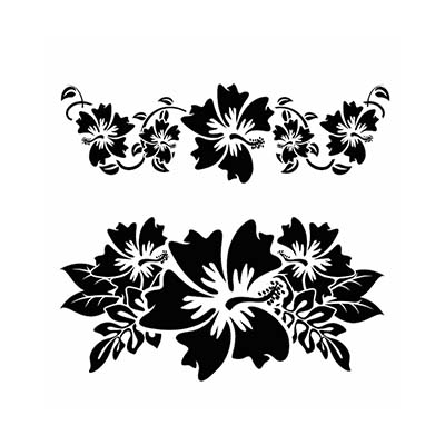 Hawaiian designs Fake Temporary Water Transfer Tattoo Stickers NO.10372