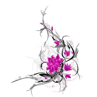 Lovely Hawaiian Flowers On Back designs Fake Temporary Water Transfer Tattoo Stickers NO.10381