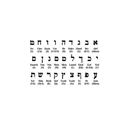 Hebrew designs Fake Temporary Water Transfer Tattoo Stickers NO.10384