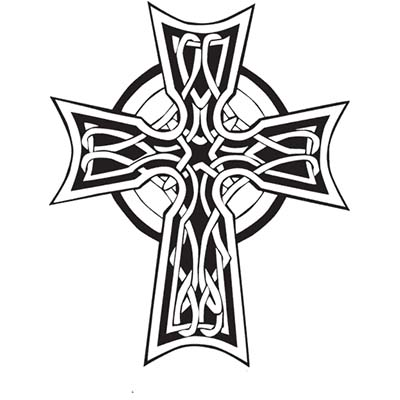 Irish Celtic Cross Design Fake Temporary Water Transfer Tattoo Stickers NO.10392