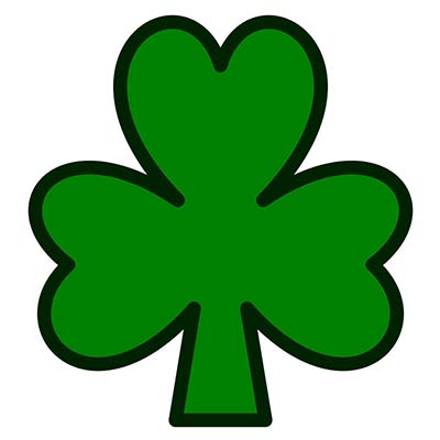 Small Irish Clovers On Feet designs Fake Temporary Water Transfer Tattoo Stickers NO.10401