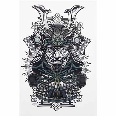 Japanese samurai designs Fake Temporary Water Transfer Tattoo Stickers NO.10406