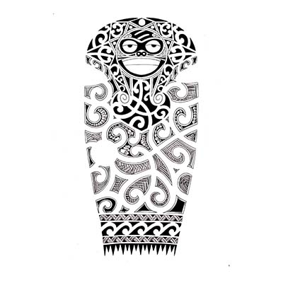 Full sleeve Maori design Fake Temporary Water Transfer Tattoo Stickers NO.10416
