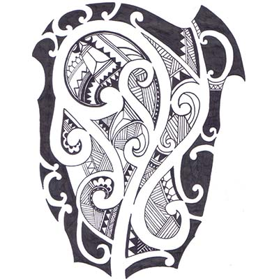 Maori designs Fake Temporary Water Transfer Tattoo Stickers NO.10421
