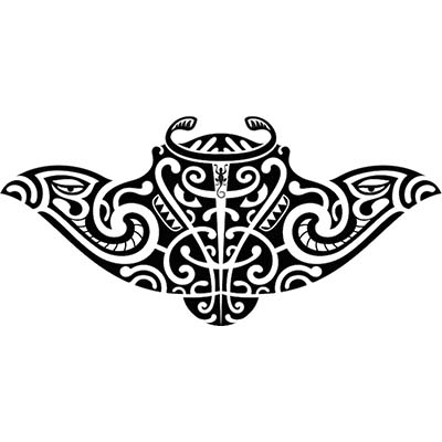 Maori designs Fake Temporary Water Transfer Tattoo Stickers NO.10422