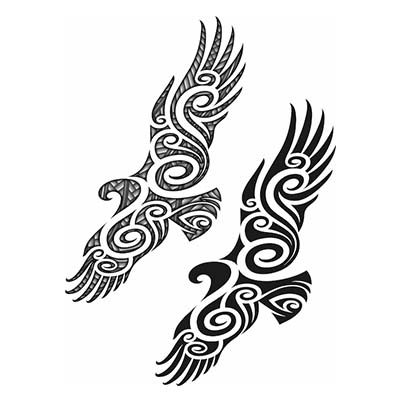 Maori designs Fake Temporary Water Transfer Tattoo Stickers NO.10423