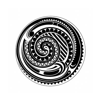 Maori designs Fake Temporary Water Transfer Tattoo Stickers NO.10426