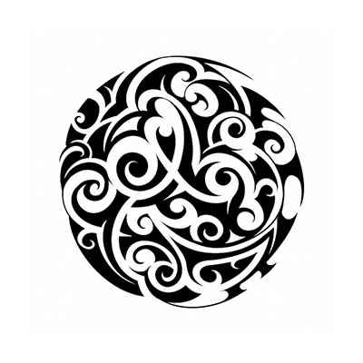 Maori designs Fake Temporary Water Transfer Tattoo Stickers NO.10427