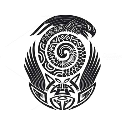 Maori snake designs Fake Temporary Water Transfer Tattoo Stickers NO.10420