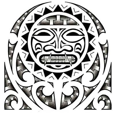 Aztec Mexican Design designs Fake Temporary Water Transfer Tattoo Stickers NO.10433
