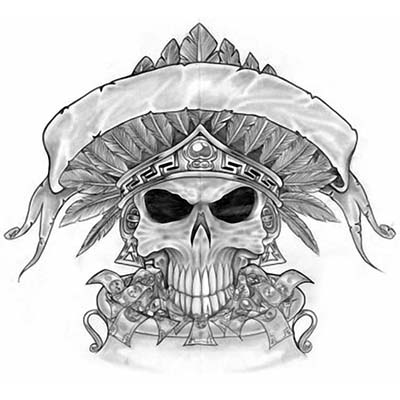 Mexican Skull Design Fake Temporary Water Transfer Tattoo Stickers NO.10462