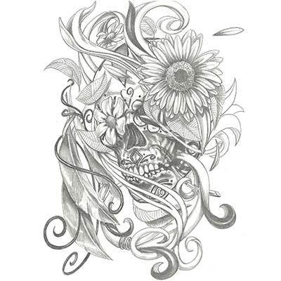 Sugar Skull Day Of The Dead Tattoo Drawings Best Tattoo Ideas