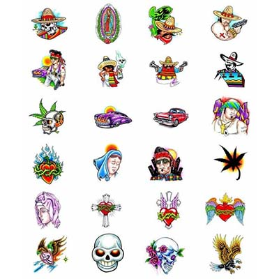 Prison art latino designs Fake Temporary Water Transfer Tattoo Stickers NO.10574