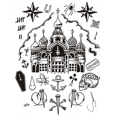 Prison designs Fake Temporary Water Transfer Tattoo Stickers NO.10570