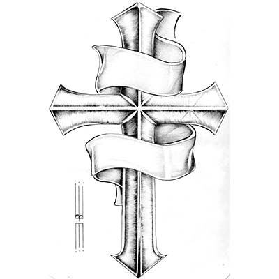 Religious free cross designs designs Fake Temporary Water Transfer Tattoo Stickers NO.10581