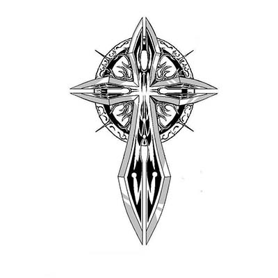 Religious of celtic crosses designs Fake Temporary Water Transfer Tattoo Stickers NO.10592