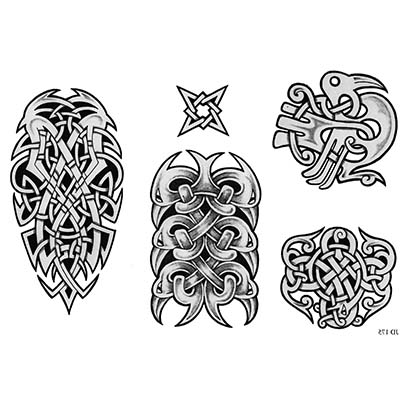 Religious patterns designs Fake Temporary Water Transfer Tattoo ...