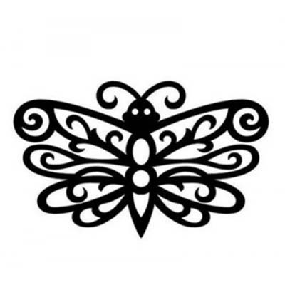 Butterfly tribal designs Fake Temporary Water Transfer Tattoo Stickers NO.10616