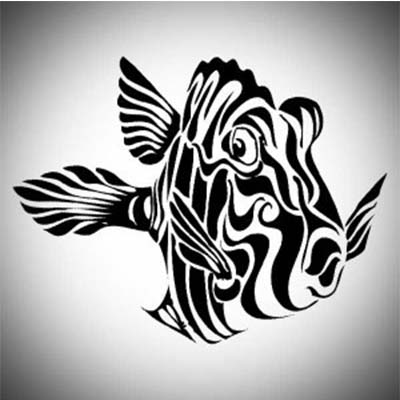 Fish tribal designs Fake Temporary Water Transfer Tattoo Stickers NO.10622