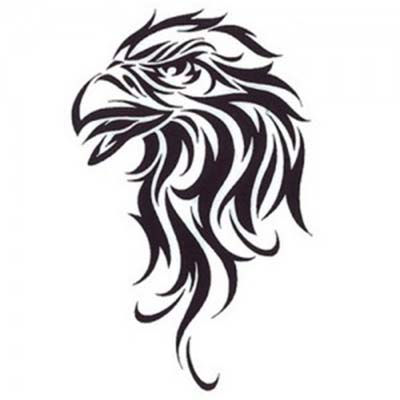 Tribal design of an eagle Fake Temporary Water Transfer Tattoo Stickers NO.10631