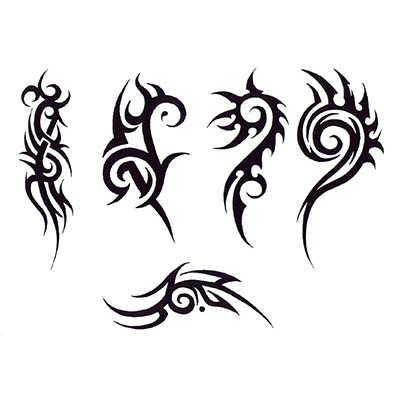 Tribal designs Fake Temporary Water Transfer Tattoo Stickers NO.10638