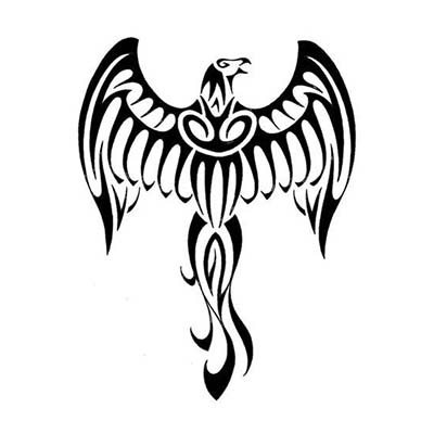 Gorgeous eagle design in polynesian style Fake Temporary Water Transfer Tattoo Stickers NO.10554