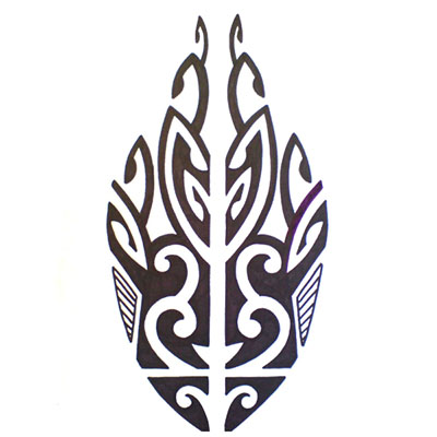Polynesian design fish Fake Temporary Water Transfer Tattoo Stickers NO.10557