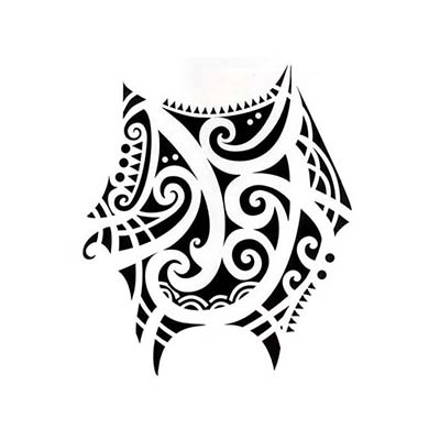 Polynesian design oceanwaves Fake Temporary Water Transfer Tattoo Stickers NO.10562
